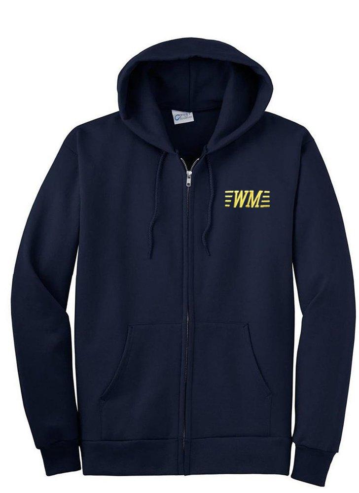 Western Maryland Railroad Zippered Hoodie Sweatshirt [07]