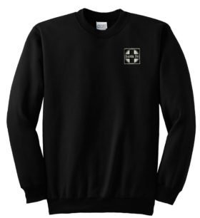AT&SF Santa Fe Black Cross Crew Neck Sweatshirt [120]