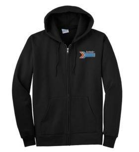 Amtrak Arrow Zippered Hoodie Sweatshirt [221]