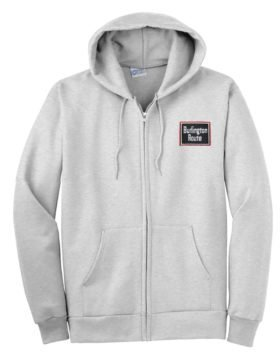 Chicago, Burlington and Quincy Zippered Hoodie Sweatshirt [33]