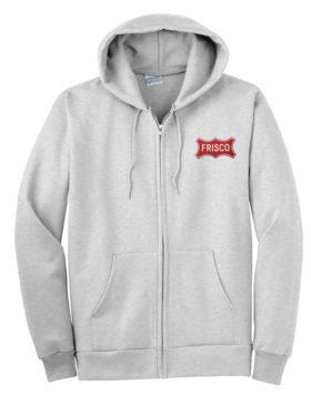 Frisco Railway Railroad Zippered Hoodie Sweatshirt [44]
