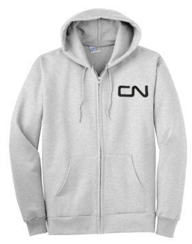 Canadian National Noodle Logo Zippered Hoodie Sweatshirt [45]