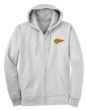Western Maryland Fireball Logo Zippered Hoodie Sweatshirt [63]