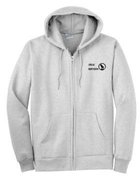 Great Northern Railway Rocky Logo Zippered Hoodie Sweatshirt [64]