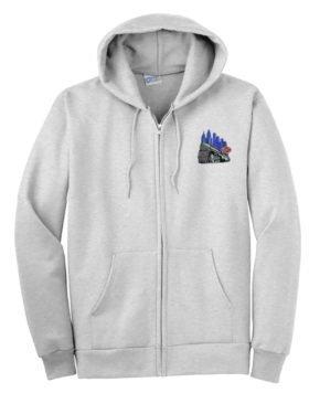 NYC Empire State Express Zippered Hoodie Sweatshirt [66]