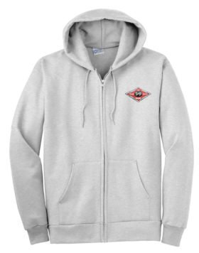 Texas and Pacific Railway Zippered Hoodie Sweatshirt [69]