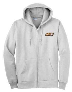 Detroit Toledo and Ironton Railroad Zippered Hoodie Sweatshirt [73]