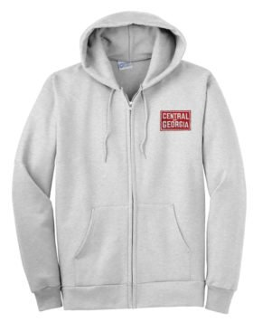 Central of Georgia Railway Zippered Hoodie Sweatshirt [81]
