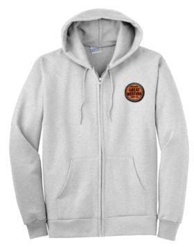 Chicago Great Western Railway Zippered Hoodie Sweatshirt [82]