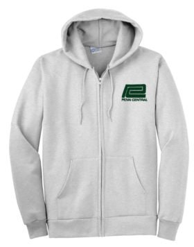 Penn Central  Transportation Company Zippered Hoodie Sweatshirt [92]