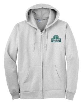 Sacramento Northern Railway Zippered Hoodie Sweatshirt [97]