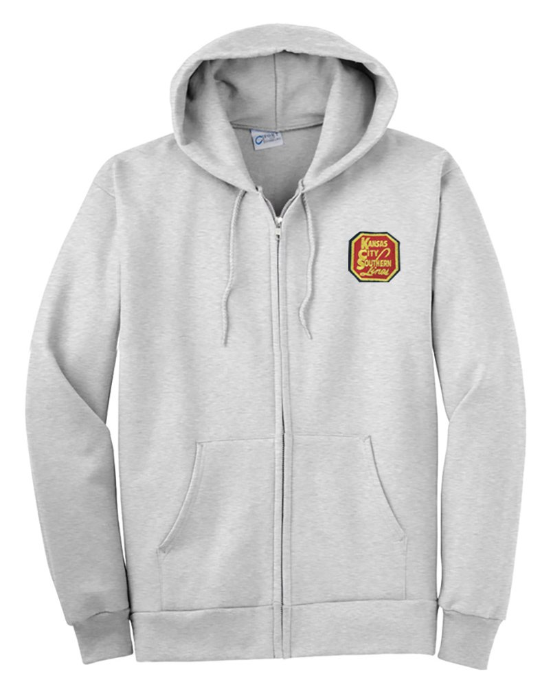 Kansas City Southern Railway Zippered Hoodie Sweatshirt [98]