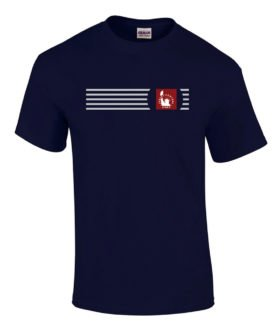Jersey Central Railroad Embroidered Logo Tee [tee49]