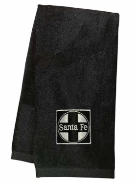 AT&SF Santa Fe Black Cross Embroidered Hand Towel [120]