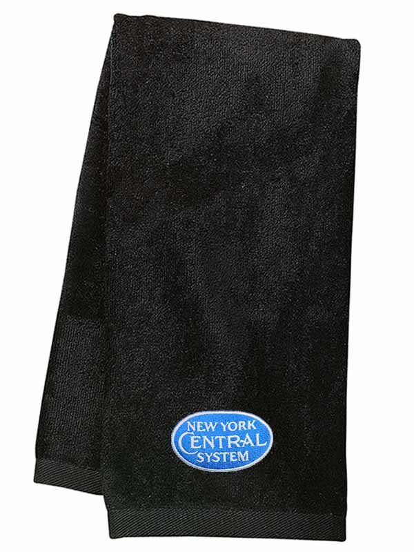 New York Central Blue Logo Embroidered Hand Towel [29b]