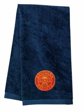 Southern Pacific Golden Sunset Embroidered Hand Towel [50]