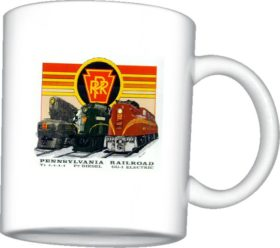 Pennsylvania RR Triple Header Mug