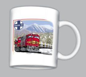 AT&SF (Santa Fe) SD70M at San Francisco Peaks Mug (Mug 10028)