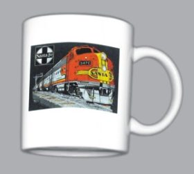 AT&SF (Santa Fe) Super Chief at night Mug (Mug 119)