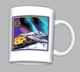 Alaska RR at Mt McKinley Coffee Mugs