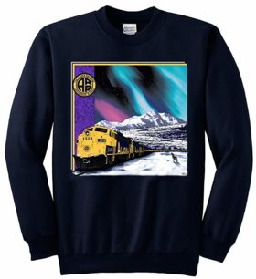 Alaska Railroad at Mt. McKinley Sweatshirt