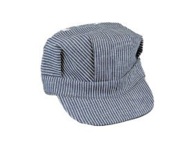 Hickory Stripe Railroad Engineer hat