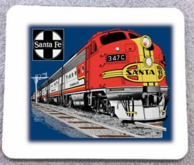 AT&SF (Santa Fe) Super Chief Mousepad (119M)