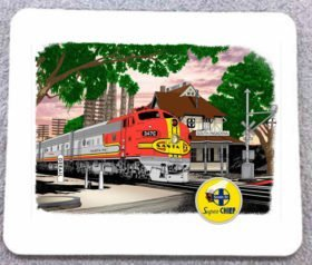 AT&SF (Santa Fe) Super Chief at So. Pasadena Mousepad (36M)