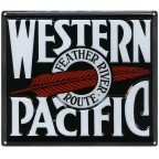 Western Pacific Aluminum Sign