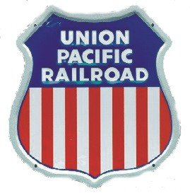Union Pacific Aluminum Sign