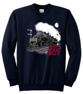 Union Pacific Big Boy Railroad Train Sweatshirt Pullover [10140]