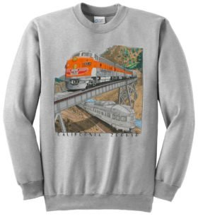 Western Pacific California Zephyr Railroad Train Sweatshirt [128]