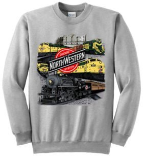 Chicago and Northwestern Collage  Sweatshirt [49]