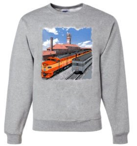 Go By Train Portland  Sweatshirt [7]