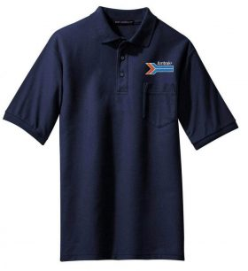 UP Overland Route Logo Embroidered Polo White Adult 2XL [123]