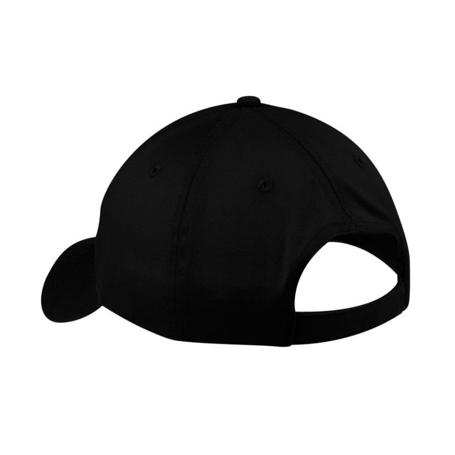 back of hat black